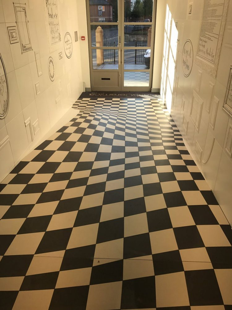 Company Uses Optical Illusion Floor Tiles To Prevent People Running